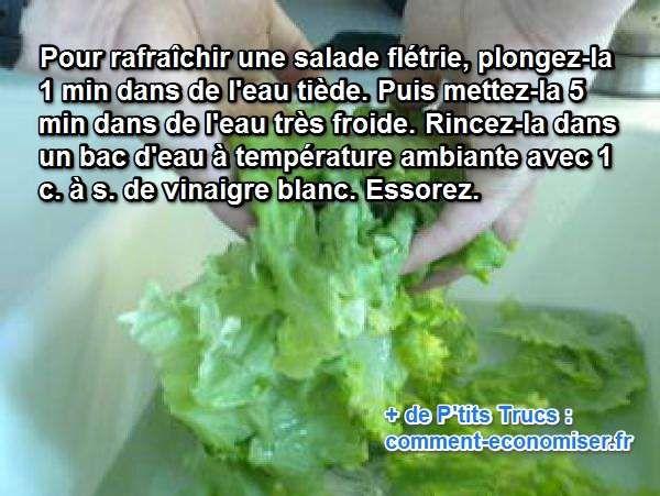 Il m'arrive souvent d'oublier une salade au fond du frigo. Et quand je m'en aperçois, elle est déjà toute abîmée. Je suppose que, comme moi, vous détestez jeter de la nourriture. Alors ...