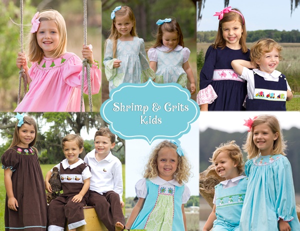 Smocked and Appliqued Childrens Clothing for Girls, Boys, and Babies. Shrimp and Grits Kids, SC