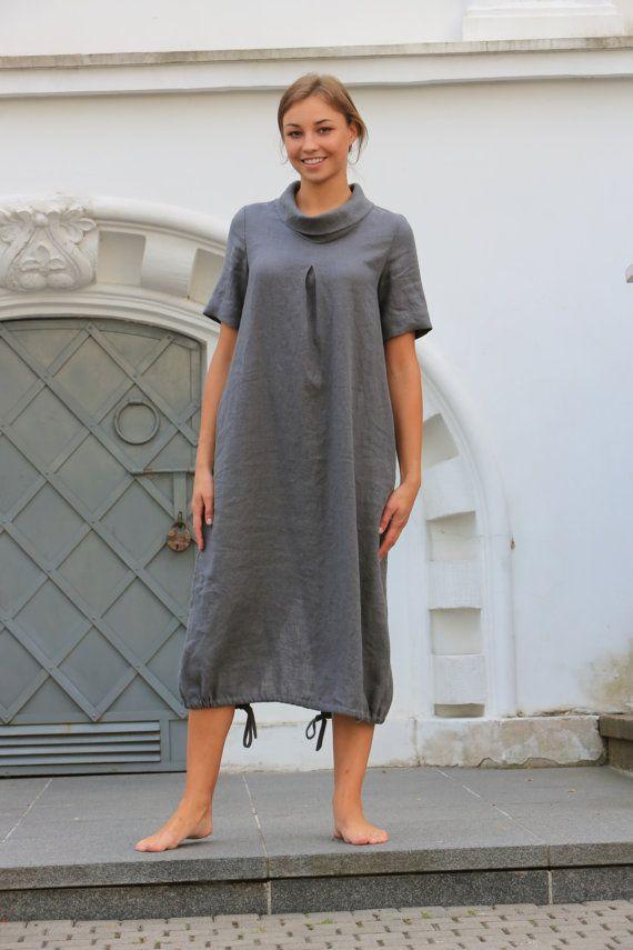 Linen dress. Natural linen dress / long dress