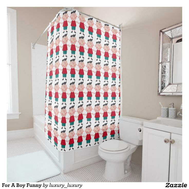 For A Boy Funny Shower Curtain