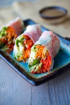 Recipe: Veggie Spring Rolls and Peanut and Soy Free Dipping Sauce