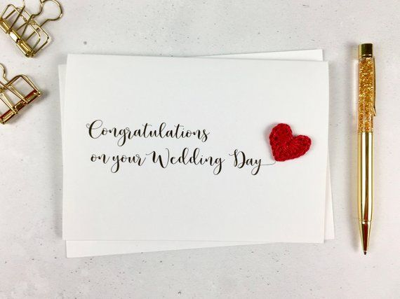 Congratulations On Your Wedding Day Card Etsy Congratulations On Your Wedding Day Engagement Cards Cards