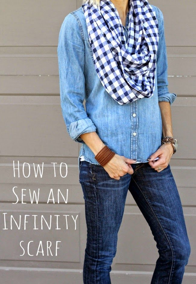 I've tried before, but this year is the first time I've mastered sewing an infinity scarf. They really aren't very hard to sew - as long as you follow a tutorial! Because it's definitely scarf season,