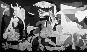 Bombing of Guernica by Pablo Picasso<br>June 1937 by Pablo Picasso.