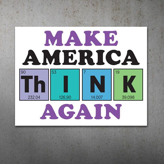Make America Think Again Anti Trump Political Printable Protest Sign Poster