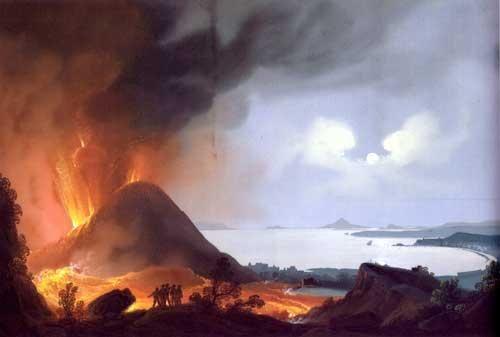 Gioacchino La Pira - L'eruzione del Vesuvio del 1839