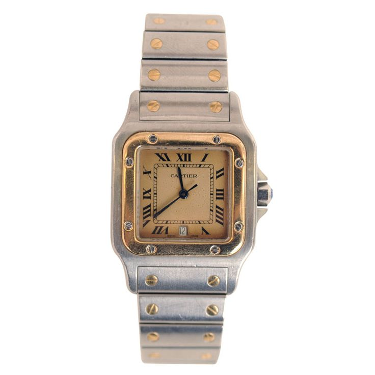 Yes, I admit, I covet thee...  Cartier Santos Watch SATURDAY SALE | From a unique collection of antique and modern miscellaneous jewelry at http://www.1stdibs.com/furniture/more-furniture-collectibles/miscellaneous-jewelry/