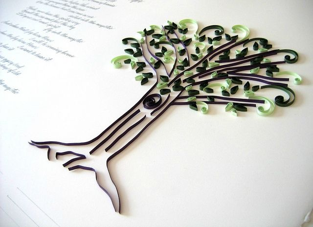 Quilled Marriage Certificate by all things paper, via Flickr