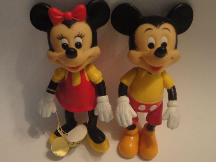 "Mickey Minnie Mouse Disney Pose able 6"" hard plastic figurines"