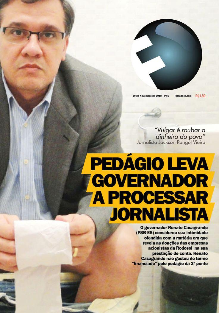 Sátira aos políticos e poderosos que processam jornalistas em tentativa de censurar e calar a Imprensa.