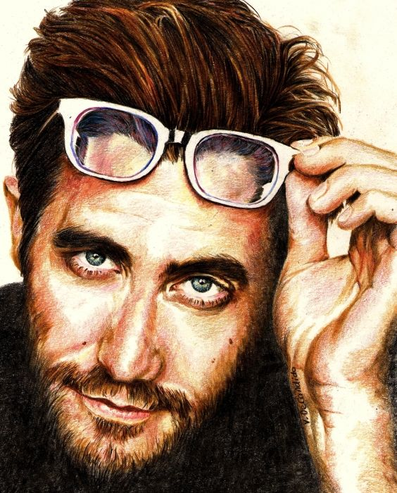 Jake Gyllenhaal by vividec {from Italy} ~ colored pencils