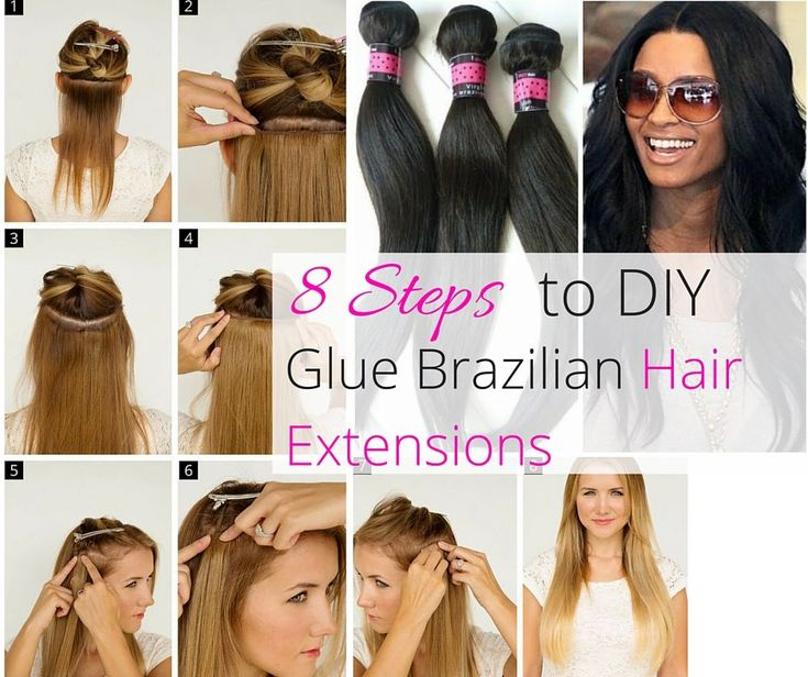Best 25 glue in hair extensions ideas on pinterest diy hair 8 easy steps to diy glue your hair extensions pmusecretfo Choice Image