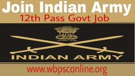 Indian Army has given an employment notification for Govt Jobs after 12th Pass in Indian Army. To Join Indian Army, Online Application Last Date 29.11.17