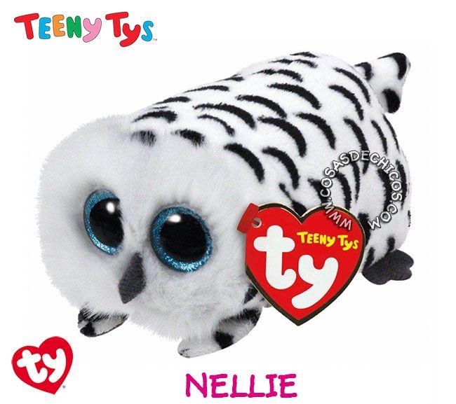 #Nuevos #Peluches #TeenyTys #Originales #TY  #Importados.  Irresistibles y adorables peluches Teeny Tys. Super suavecitos. Con enormes ojos brillantes. Medida: 9 cm. Coleccionalos!  Importador oficial: #Wabro.  #CosasDeChicos #Nellie #Buho #Owl #Lechuza #Teeny #Tys
