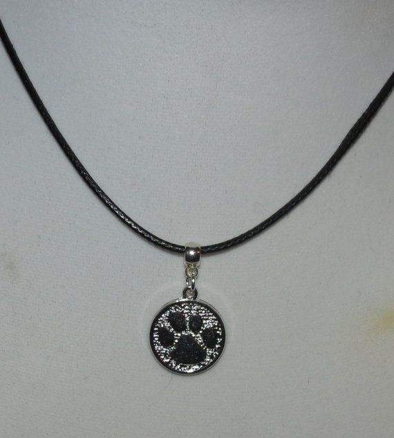Silver plated Paw Print Charm necklace by PawInspiredCreations