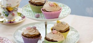 These Easter chocolate cupcakes are slimming and super-cute!