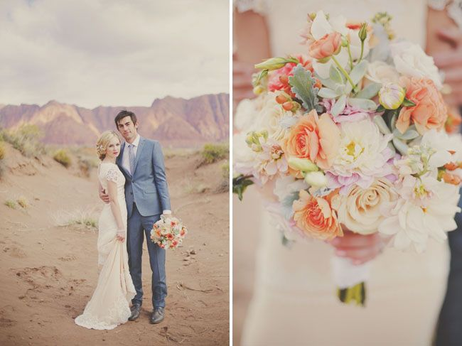 Red Rock Wedding Portrait Session. Bouquet. wedding floral. flowers. www.gideonphoto.com