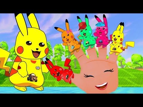 42 Finger Family Songs With Pikachu Pokemon Dady finger Nurse Rhyme For ...