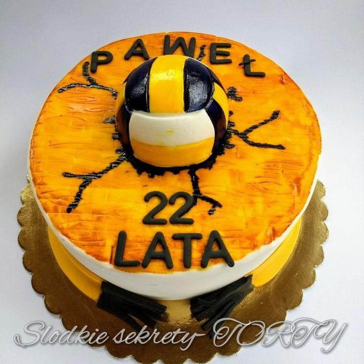 Volleball Cake Volleyball cake fondant siatkówka tort