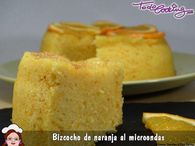 Bizcocho de naranja muy esponjoso en el microondas - Bizcocho microondas isasaweis ...