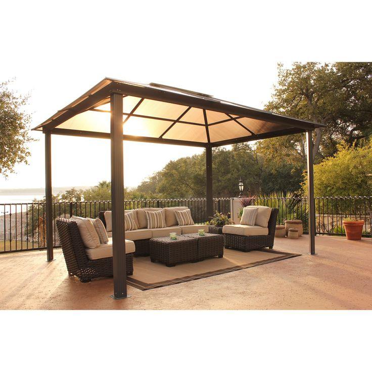 Comfortable Patio Area In Summer Luxurious Spa Protection Winter The Aspen Gazebo