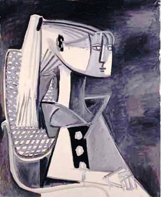 Pablo Picasso - Portrait of Sylvette David, 1954. Oil on canvas, 99.9 x 80.9 cm. Pola Museum of Art, Hakone, Kanagawa, Japan