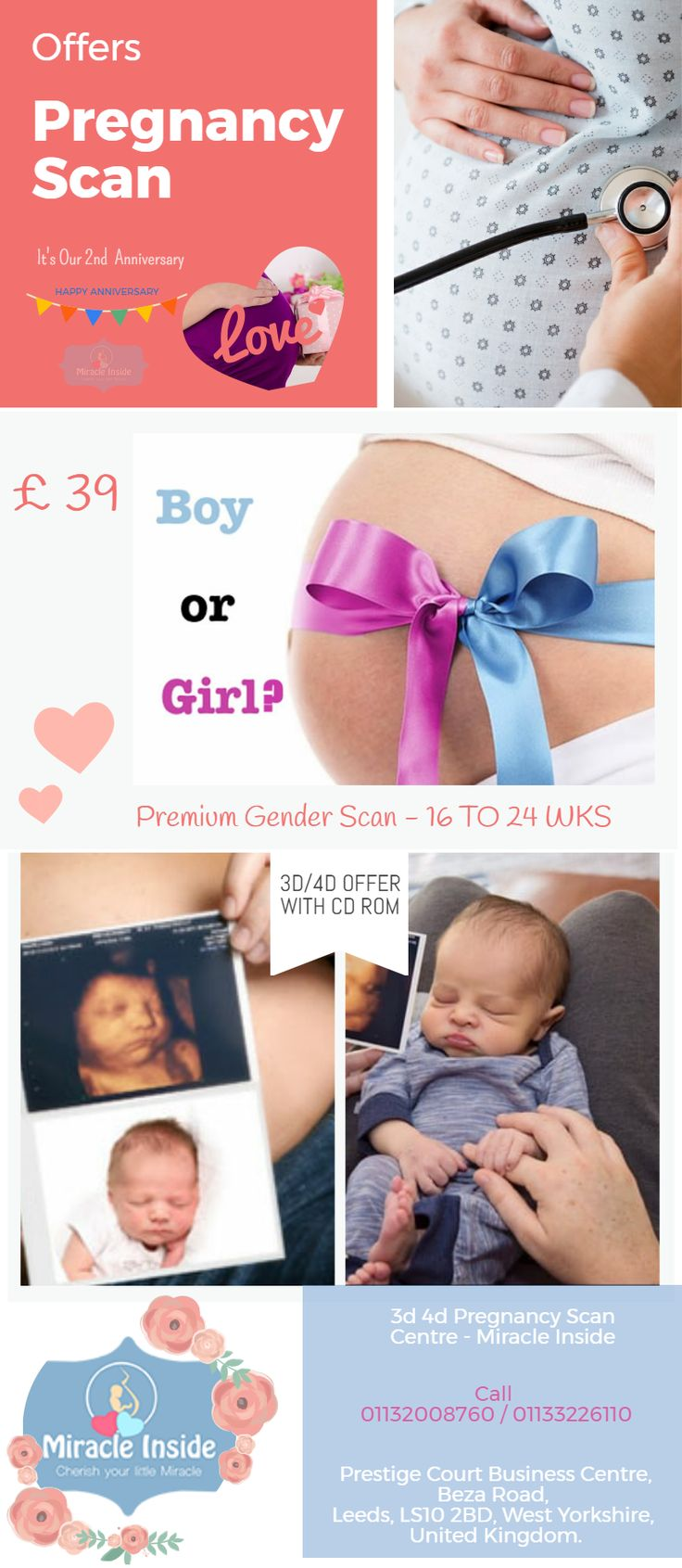 Get discounts on Miracle Inside's Pregnancy Scan Services in Leeds. #3d4dpregnancyscan #offersinpregnancyscan
