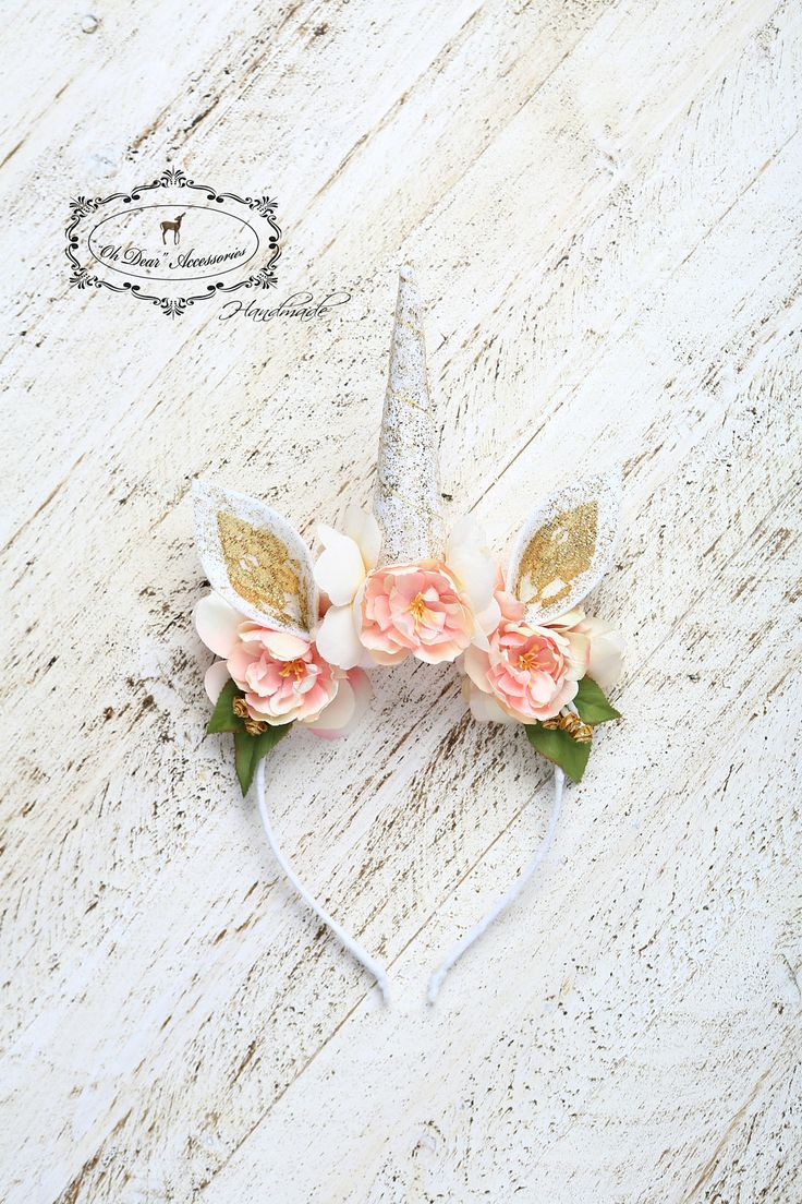 unicorn headband, magic, fantasy, birthday party, style photo session, photo prop, unicorn, spring, pink,gold,bridal shower,bachelorette by OhDearAccessories on Etsy