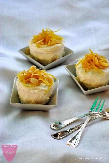 Pane, burro e alici: Tortine al limone con crema di miele e ricotta