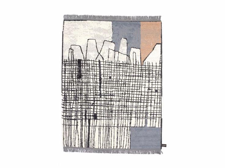 Tappeto fatto a mano rettangolare OLDIE SEGNI MINIMI Collezione Oldie by cc-tapis ® design Giuseppe Di Costanzo
