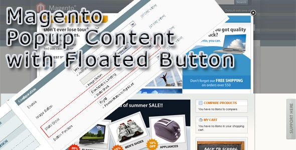 Magento Popup Content with Floated Button (Magento Extensions)