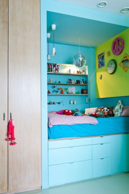 blauw-bed-keukenlades-ikea