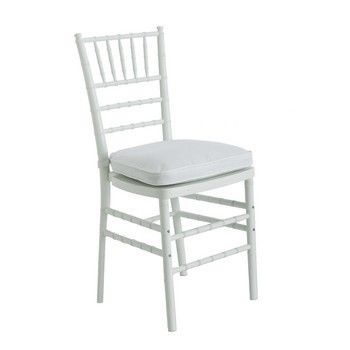 You can't go wrong with the classic white Chivari chair.