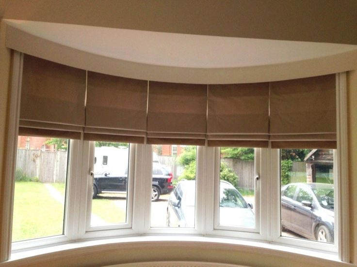 Roman Blinds Large Windows Bay Window Living Room