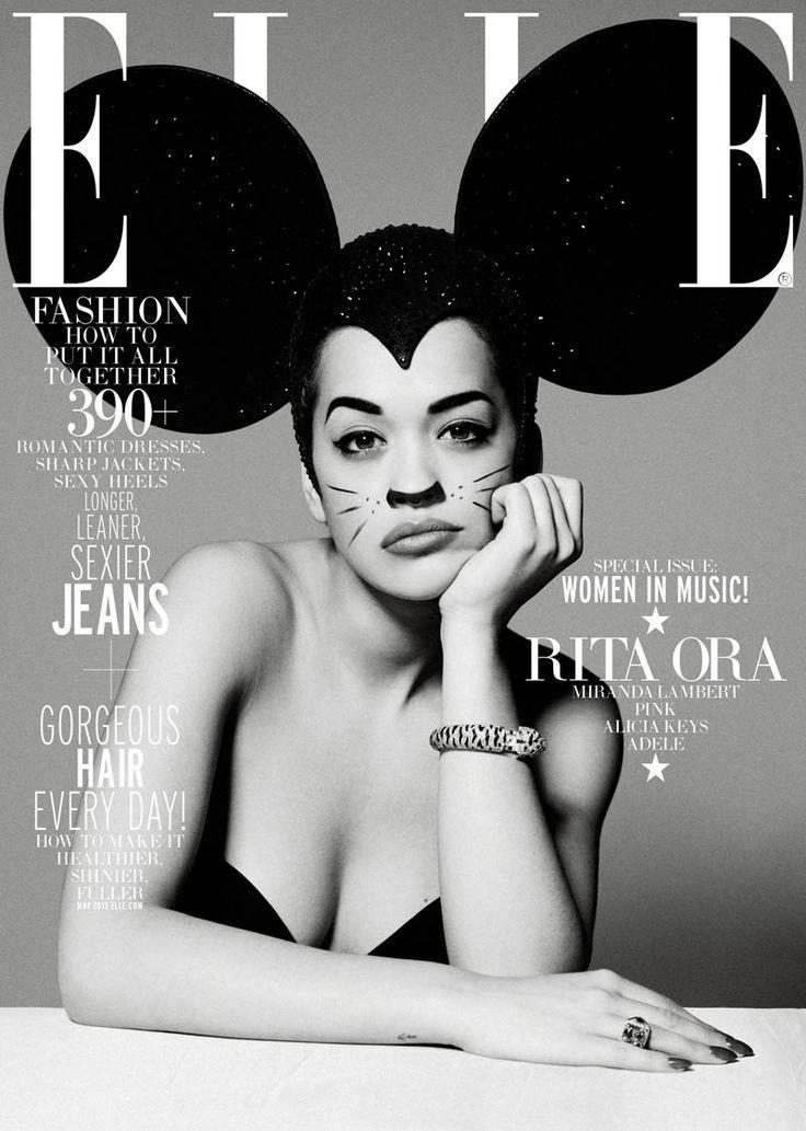 """Women In Music""   Model: Rita Ora, Photographer: Thomas Whiteside, Elle US, May 2013"