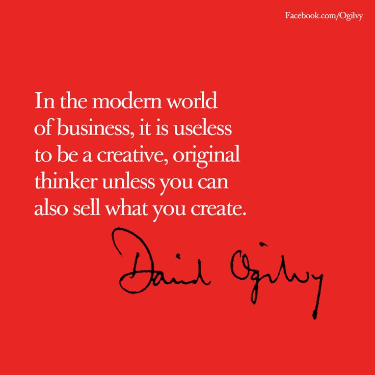 #DavidOgilvy #Quote #Advertising. Gute SprücheEinfachMarketing ...