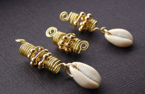 Dreadlocks Jewelry Set with Cowrie Shells by MarcieRoxx on Etsy