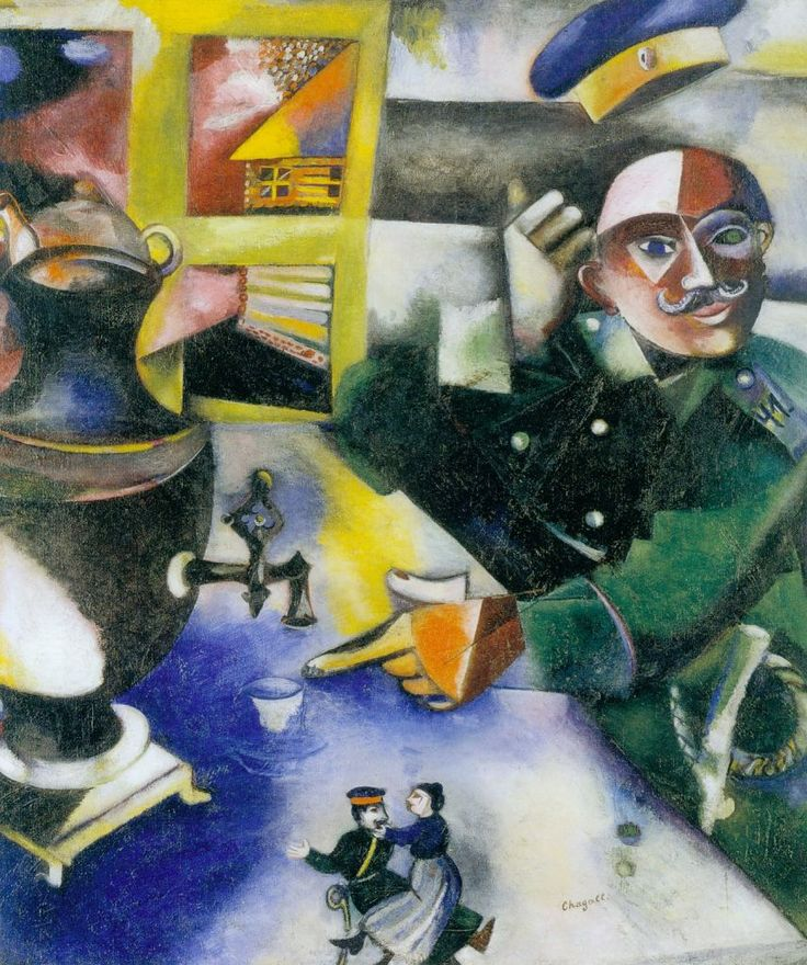 Marc Chagall - The Soldier Drinks