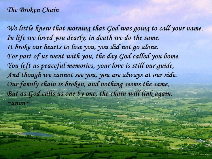 Poem used for my Fathers Funeral who died suddenly from a heart attack.  Will always love and miss him.  12.10.10
