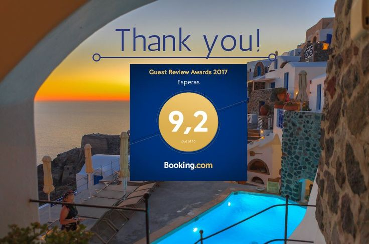 Thank you, to all our guests for sharing their great #Santorini experiences and positive feedback of staying at #EsperasHotel.  #BookingAward #Oia #Greece #Travel #Island #Hotel