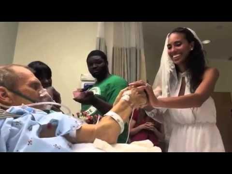 Si Sposa nella Stanza d'Ospedale del Papà malato di Cancro per ballare con lui - Guardalo
