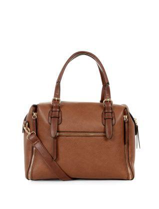 Tan (Stone ) Tan Zip Corner Bowler Bag   314381718   New Look