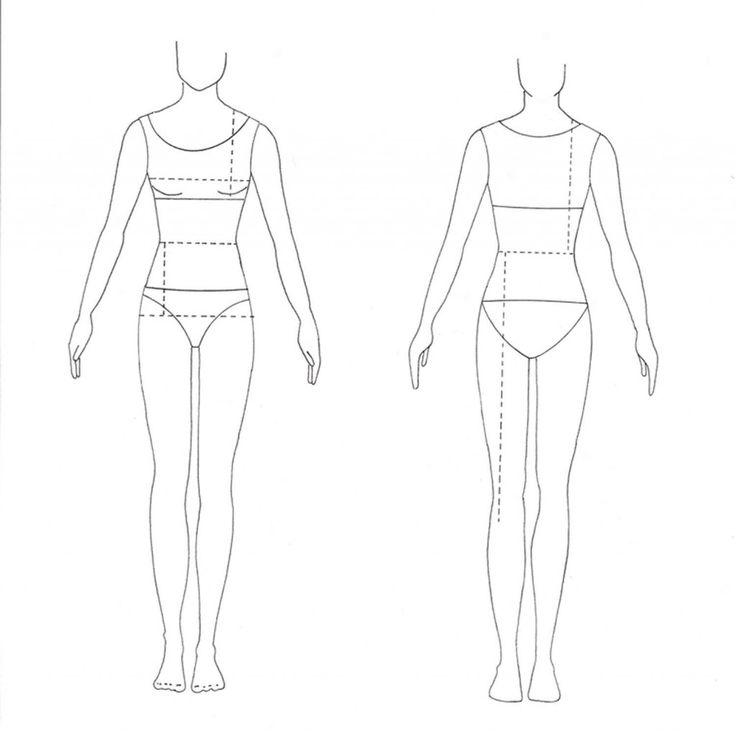 fashion drawing template