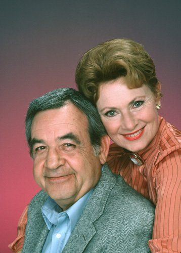Tom Bosley and Marion Ross..Howard and Marion on Happy Days