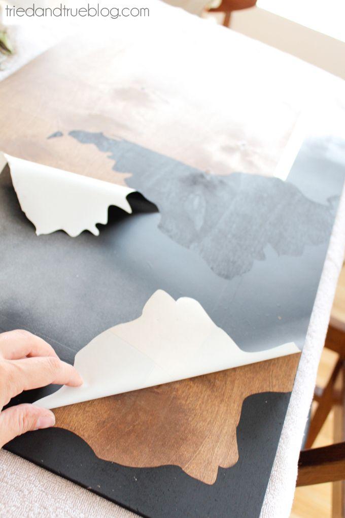 World Map Wall Art DIY - Remove