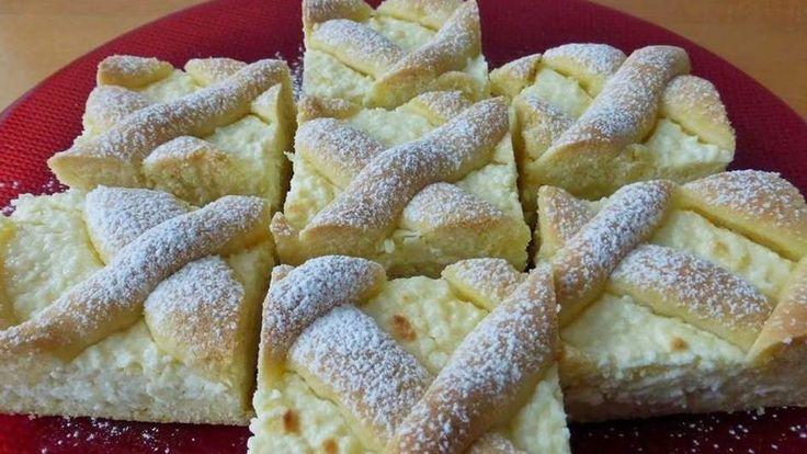 Túrós rácsos sütemény Eta módra - MindenegybenBlog