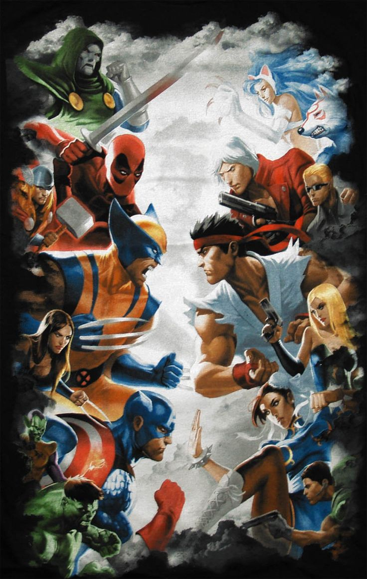 Dc Comics Fans : Marvel fan art vs capcom by princeofukraine