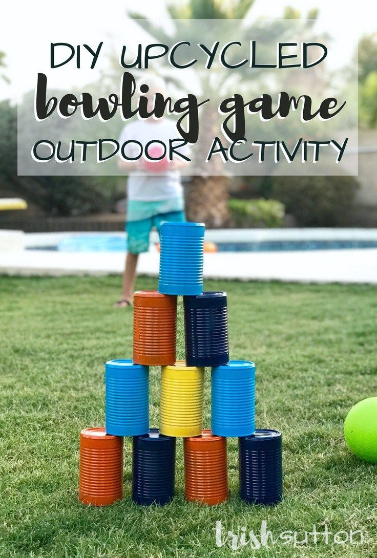 Diy Bowling Outdoor Activity Outdoor Camping Games
