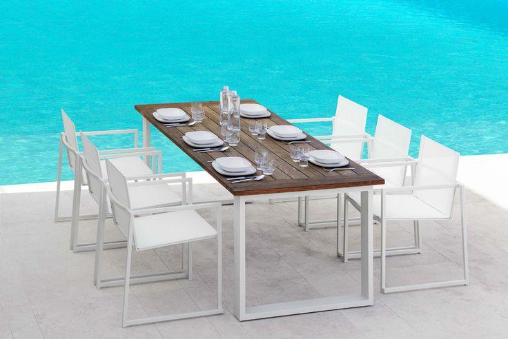 Tavolo da pranzo con sedie Essence Talenti. Arredo Esterno. Ourtdoor.