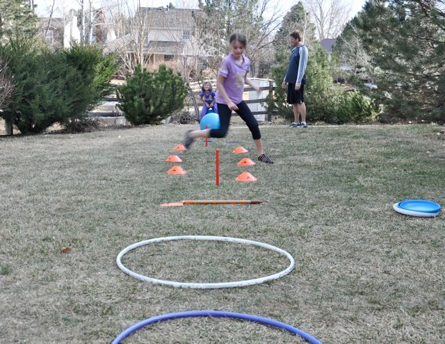 ideas for outdoor obstacle course
